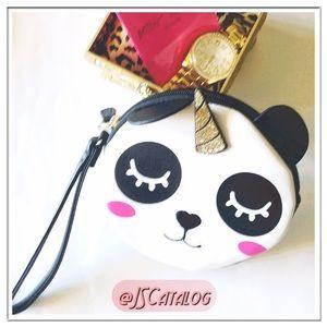 Betsey Johnson Panda Unicorn Round Wristlet